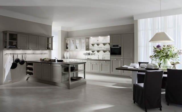 Domus Traditional German Kitchen Front View Kitchen Cabinets Leicht New York