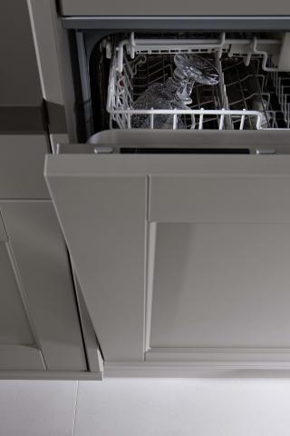 Domus kitchen cabinet cross section pullout close up for Kitchen cabinet section