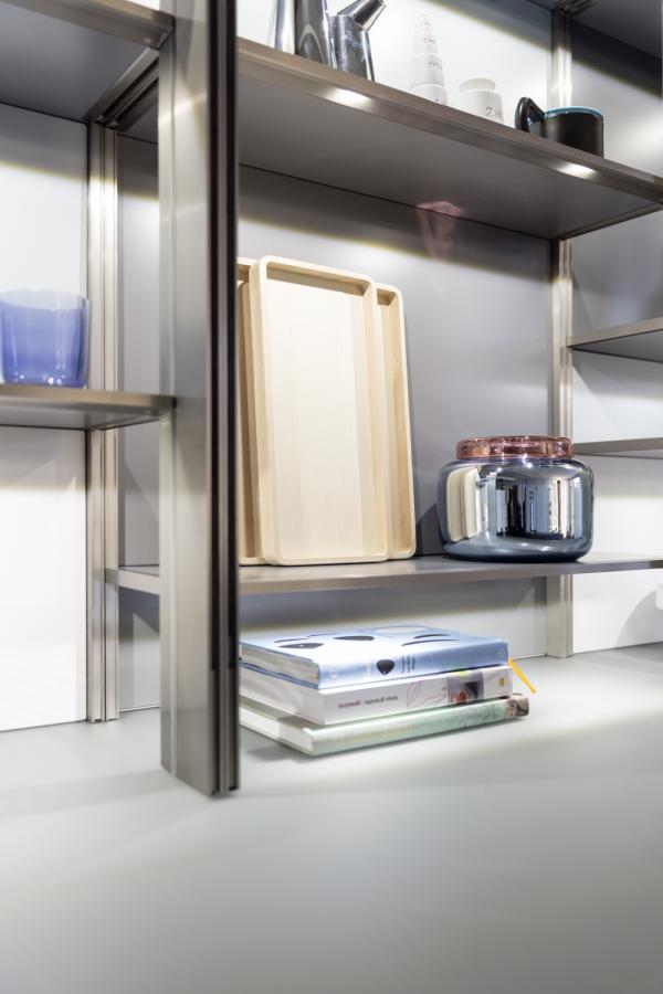 Leicht Square Led Light Panel Brightens Shelves Subtly Kitchen Cabinets Leicht New York