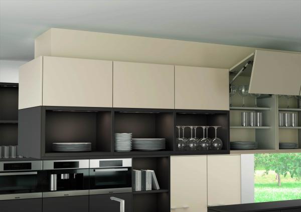 Leicht New York modern open cabinets