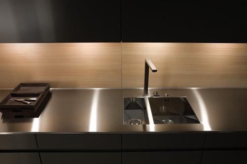 Kitchen Details Built In Led Lights And Flush Finish Basin