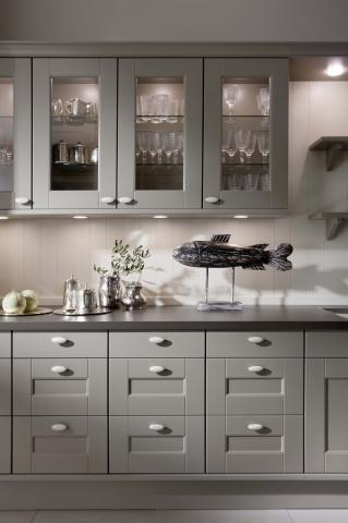 DOMUS hanging glass kitchen cabinets and base cabinets ...